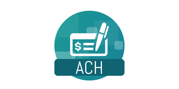 ACH check with a pen icon